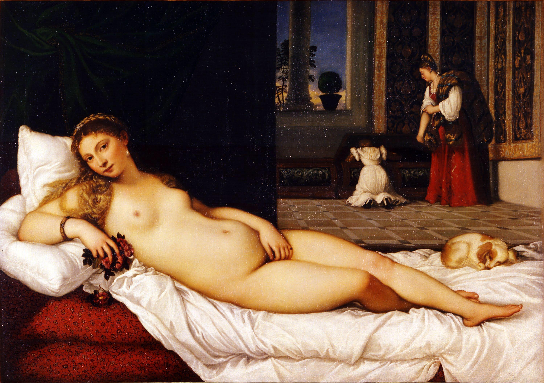 """#Acessibilidade Detalhe da pintura""""Vênus de Urbino"""", de Ticiano"""