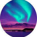 #Acessibilidade Imagem da Aurora Boreal, simbolizando a energia universal (Ki) que recebemos em uma sessão de Reiki