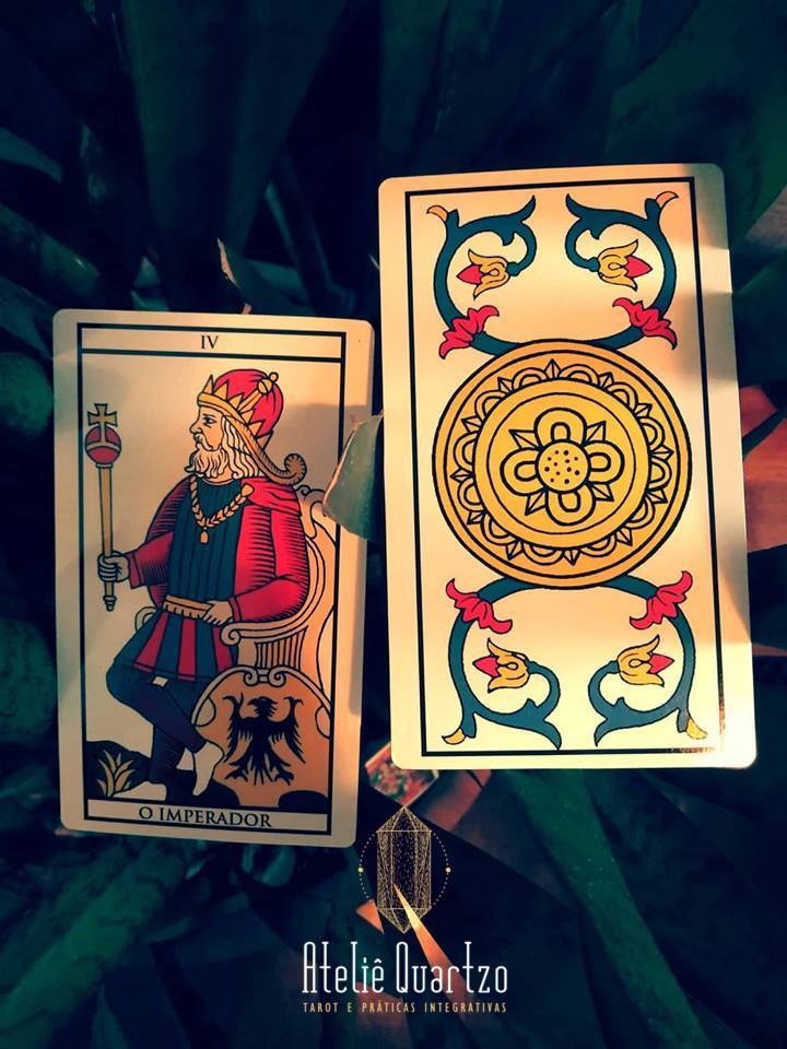 O Imperado e o As de Copas do Tarot de Marselha